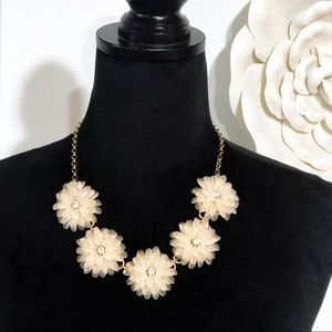 J. Crew • Blush Lucite Flower Statement Necklace